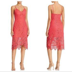 BB DAKOTA Rylee Lace Scalloped Midi Dress